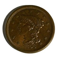 1856 BU Red Brown Large Cent