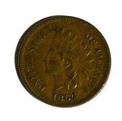 Sharp 1864 L on Ribbon Indian Head Cent