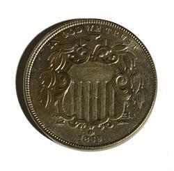 1869 Near Unc or Unc Shield Nickel