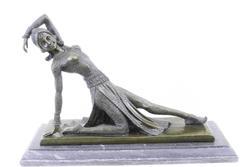 Dancer Bronze Sculpture on marble base Figurine