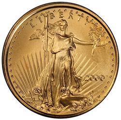 BU 2000 $5 Gold American Eagle, 1/10th oz