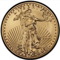 BU 2014 $5 Gold American Eagle, 1/10th oz