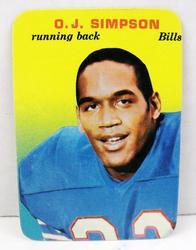 Rare OJ Simpson Topps Picture Card