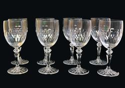 8 1980's Galway Irish Crystal Stemmed Water Glasses