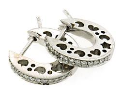 Petite Diamond Huggie Earrings in 18K