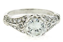 Vintage Style Cubic Zirconia and Sterling Ring