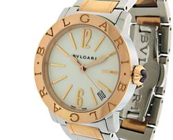 Ladies Bvlgari 18K Rose Gold & SS Automatic