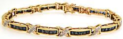 Sapphire & Diamond Bar Bracelet