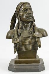 Indian Chief Bronze Sculpture