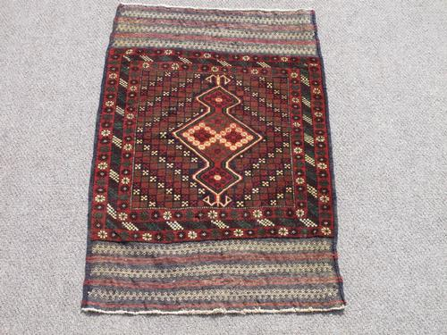 Very Collectible Semi Antique Wool on Wool Afghan Balooch