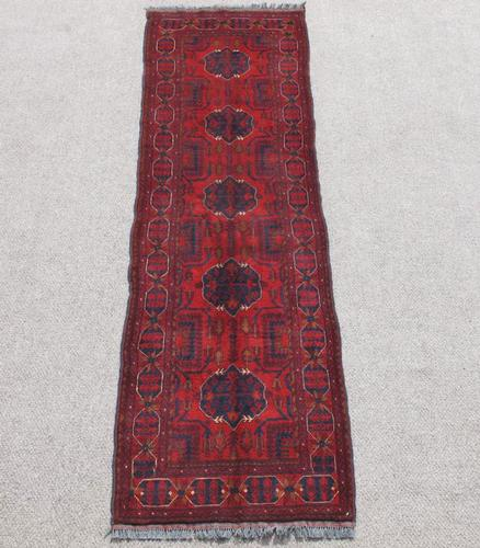 Finely Knotted Delicate Semi Antique Turkmen Design Afghan 10ft