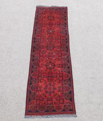 Very Beautiful Turkmen Design Afghan Runner 10ft