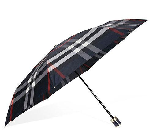 New Burberry Umbrella, Navy Check