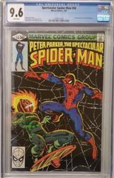 Spectacular Spiderman # 56 July 1981 Marvel CGC 9.6