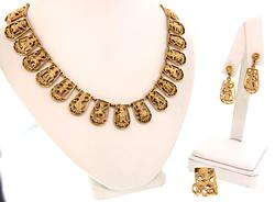 Premium Quality 18kt Gold Necklace, Earrings & RIng Set