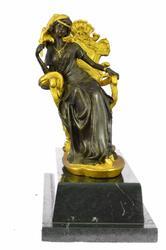 Victorian Bronze Sculpture on Marble base