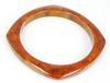 Vintage Squared Bakelite Bangle Bracelet