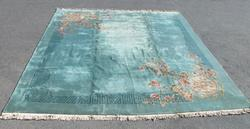 Handmade Semi Antique Chinese Nichols Super Rug 19x17.6