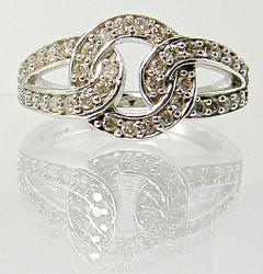 Feminine White Gold & Diamond Ring