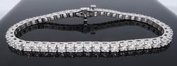 Elegant 14K White Gold 5.00CTW Diamond Tennis Bracelet