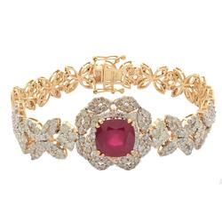 Gorgeous 5+ctw Ruby & Diamond Bracelet, 14kt Gold