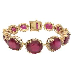 67.54 CTW. RUBY & DIAMOND BRACELET