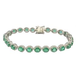 Great Quality 7+ctw Emearld & Diamond Bracelet
