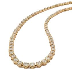 Wow Certified 15+ctw Diamond Tennis Necklace