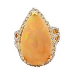 Impressive 11.44ctw Opal & Diamond Ring, 14kt