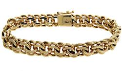Interlocking Design 14kt Gold Bracelet