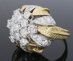 Custom Design Art Deco Diamond Ring