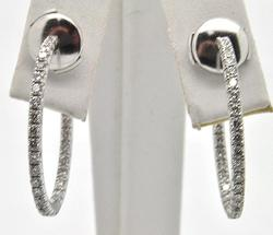 18kt Gold Tiffany & Co Diamond Inside Out Earrings