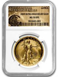 MS70DMPL 2009 UHR Saint Gaudens $20, NGC