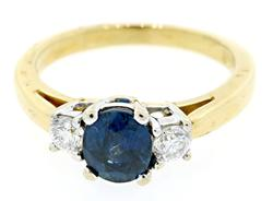 Excellent Sapphire & Diamond Band in 18K
