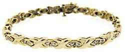 X Link Diamond Bracelet at 1.25 CTW
