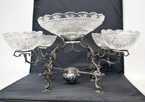 Extremely Rare Georgian Sterling Epergne Circa 1771