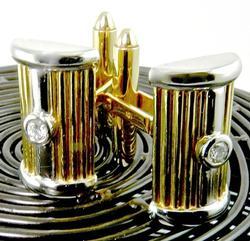 Wonderfully Contemporary Diamond & Gold Cufflinks