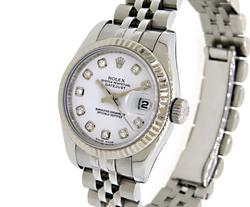 Ladies Rolex Datejust with Diamonds