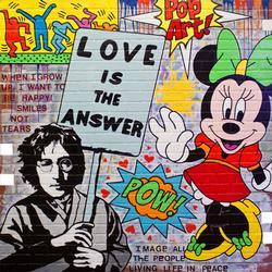 Signed Acrylic on Brick Board by Jozza