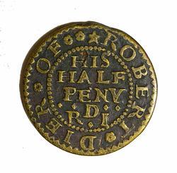 17th Century Great Britain 1/2 Penny Merchant Token