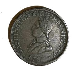 1783 Colonial Washington and Independence Small Bust token