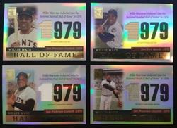 2004 Topps TR-WM 2,3,4,5 Willie Mays LOT of 4 cards