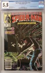Spectacular Spiderman # 131 October 10, 1987 CGC 5.5