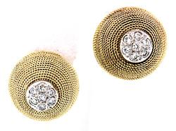 Diamond Cluster Dome Earrings