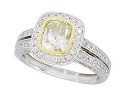 Sylvie Designer Light Yellow Diamond Ring