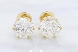 A Must Have 2.30ctw  Diamond Stud Earrings, 14kt Gold