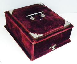 Wonderful Large Victorian Velvet Box