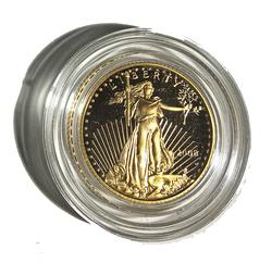 2008 Proof $5 US Gold Liberty with box and papers