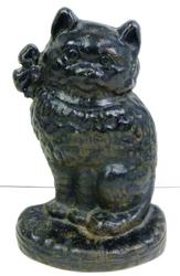Early Cast Iron Figural Cat Door Stop
