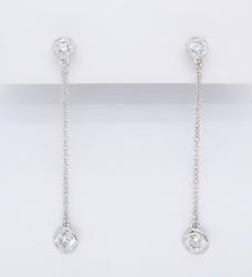 Platinum Tiffany & Co. Diamonds By The Yard Earrings